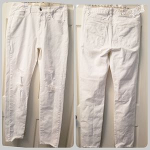 Noisy may White High Waisted Destroyed Jeans